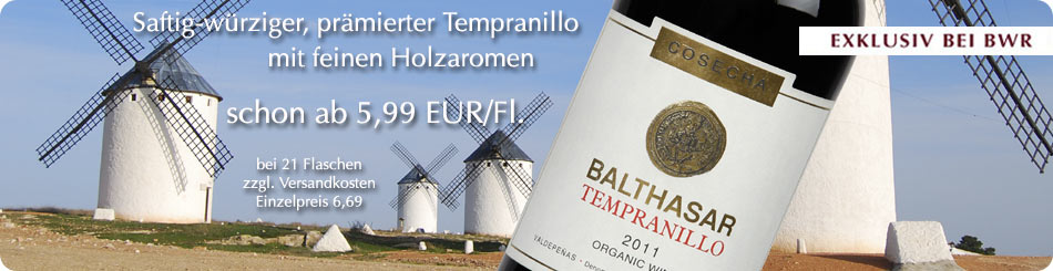 Balthasar Tempranillo organic DO Valdepenas Barrel aged