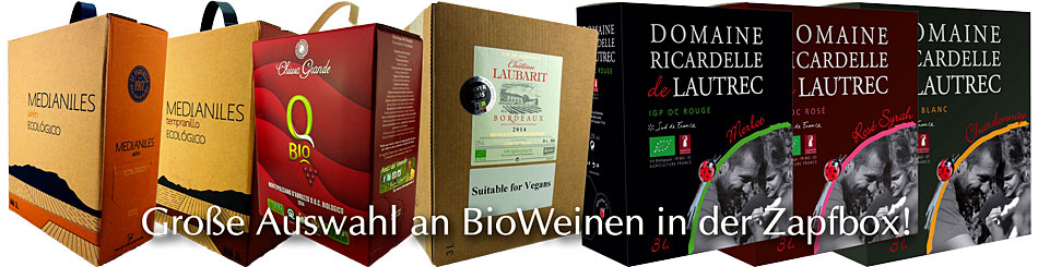 BioWeine im BIB Zapfbox Bag-In-Box
