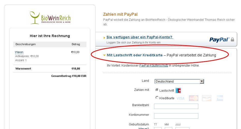 paypal konto registrieren